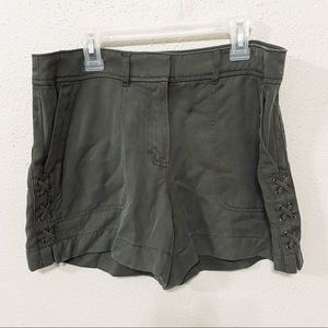 "WHBM size 6 The 5"" army green shorts"